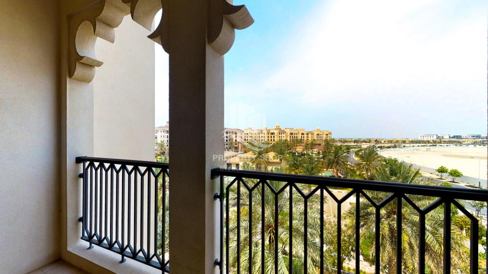 Balcony-Beautiful and unique living spaces in Saadiyat Beach Residences, 1BR Apt Available for rent! Zero Commission!