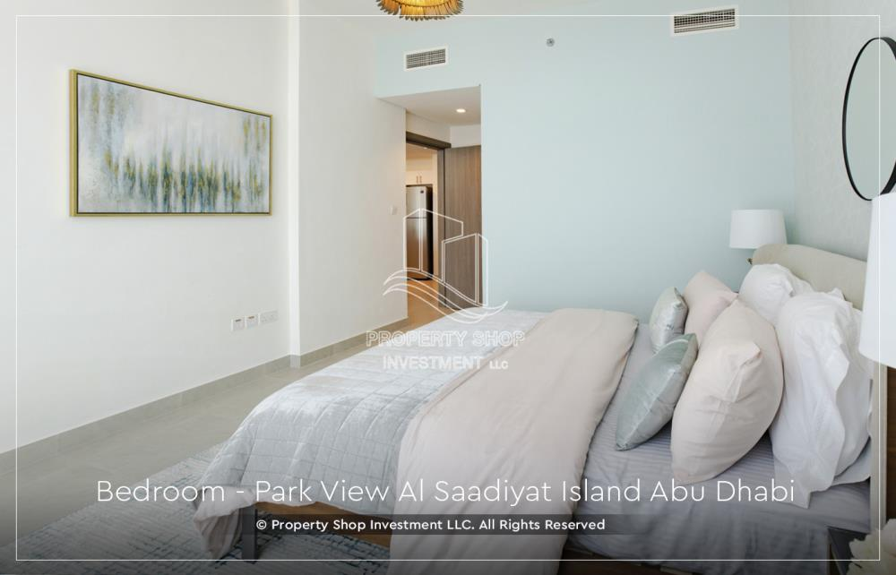 Bedroom-New 1BR Apt with 2 balconies and a walk-in closet.
