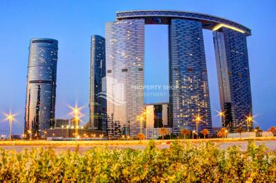 Prime location for a city-sea view high floor 3+1 apartment for rent at Gate Tower 2.