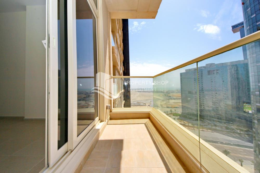Balcony-Great Deal for Spacious 1 BR in Mangrove Place Al Reem