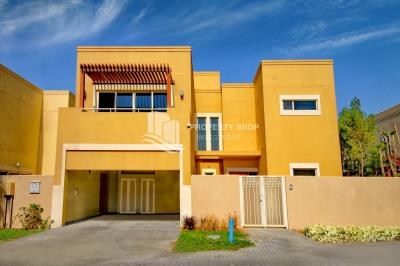 3BR villa with elegant finishing available for sale in Al Raha Gardens.
