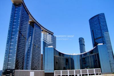 2BR Apt with partial sea view in an iconic tower in Reem island.