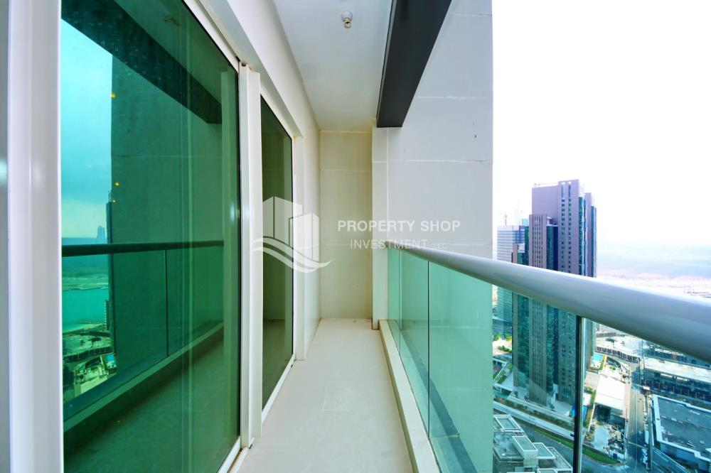 Balcony-2BR Sea view for Sale in Al Maha Tower with High Return on Investment