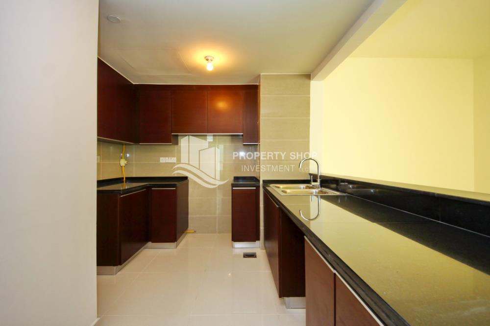 Kitchen-2BR Sea view for Sale in Al Maha Tower with High Return on Investment