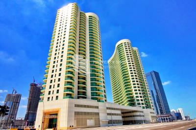 Upcoming! Spacious high-floor sea-facing 1BHK with a closed-kitchen and balcony for rent in Beach Towers