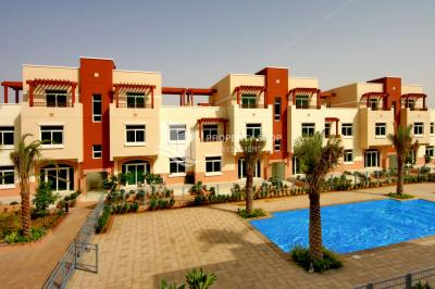 A prestigious address, 2br Terraced Apartment with pool view in Al Ghadeer, for sale