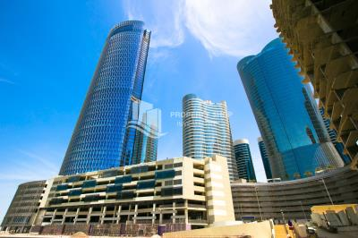 High floor office space with a canal view and gypsum board partition in Addax Tower available for rent