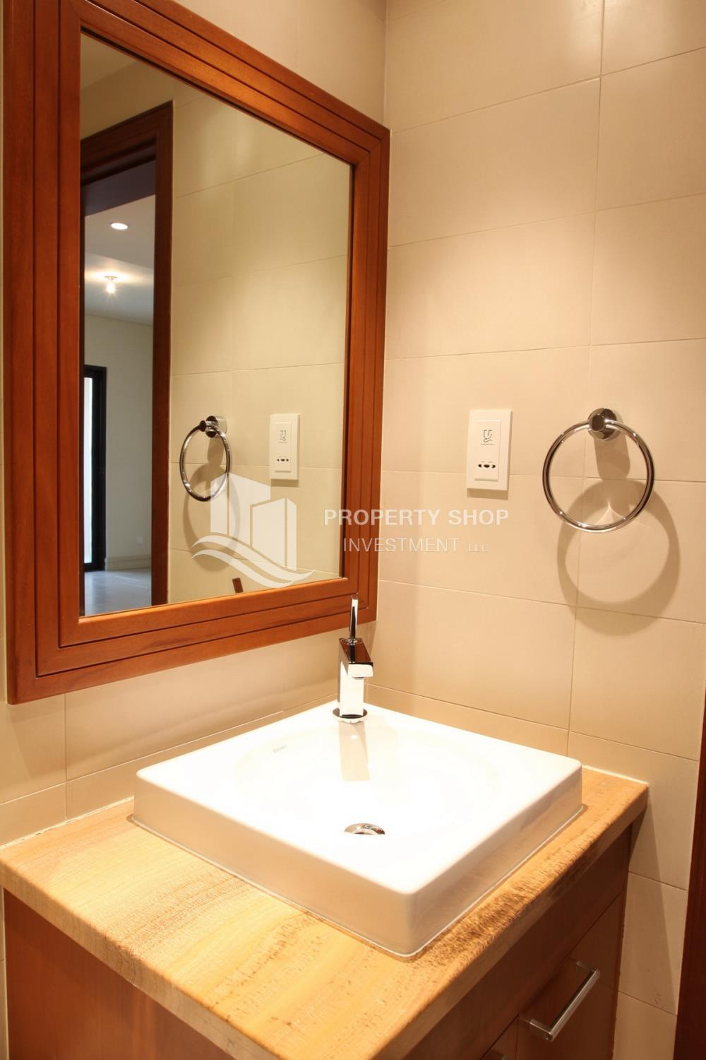 Bathroom-Beautiful and unique living spaces in Saadiyat Beach Residences, 1BR Apt Available for rent! Zero Commission!