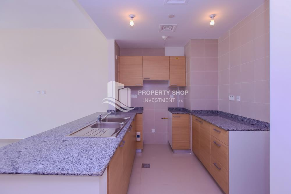 Kitchen-Spacious high-floor 1BHK with a canal view available for rent in Sigma Towers