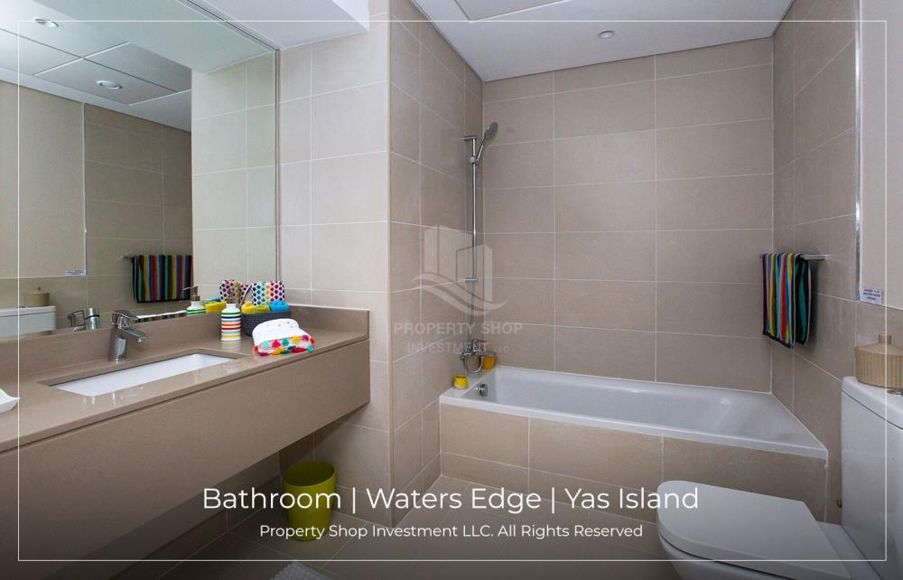 Bathroom-Spacious low floor 2BHK available for rent in Waters Edge