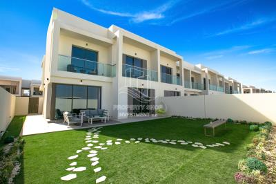 Own an END unit with big plot 3 BR Townhouse in yas acres
