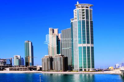 Spacious high-floor, sea facing 1BHK available for rent in RAK Tower